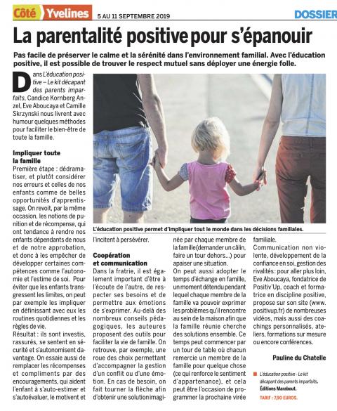 La parentalité positive pour s'épanouir, «Côté Yvelines»